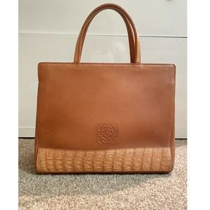 Loewe Croc Effect Handbag